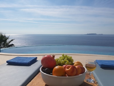 Just relax by the pool and absorb the view !
