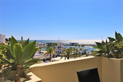 Lovely sea and port views from the terrace