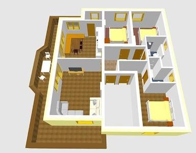 3D-Ansicht Ferienwohnung