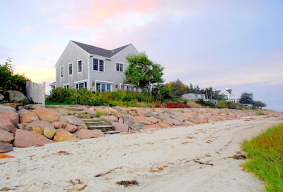 Located on a private, sandy, pet-friendly beach! Water views from every room.