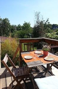 Balcon côté jardin