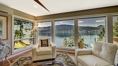 A beautiful private waterfront home.