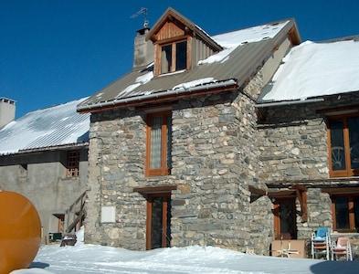 façade en hiver