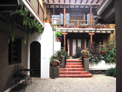 A balconied courtyard and garden are Pumamaqui's serene center.