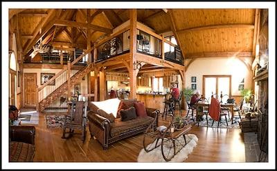 Unique Timber Frame Cabin.
