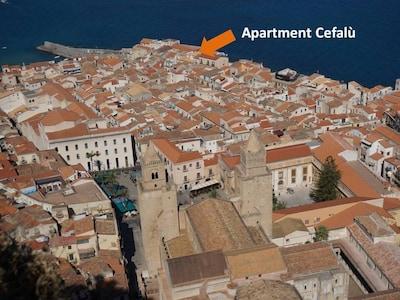 Blick von der Rocca auf die Altstadt
