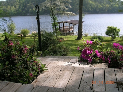 Springtime at The Lake House ...Azaleas and Dogwood Trees in bloom