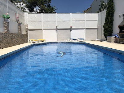Pool with new privacy screen