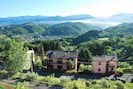 View from the balcony of La Bella Vista of the valley leading to Fivizzano
