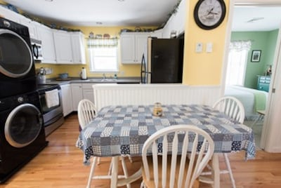 Dining area off of kitchen ~ washer and dryer