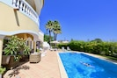 heated 10x5M saline pool  and outside covered terrace area