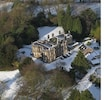 Aerial shot of Stretton House at Christmas