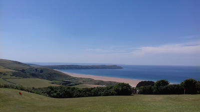 Coastal views over Woolacombe and Baggy point
