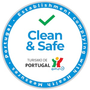Clean & Safe lodging stamp from Turismo de Portugal