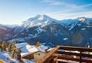 vue en face du balcon , le Mont Pourri