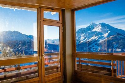 baie vitrée  et balcon en L  (hiver)