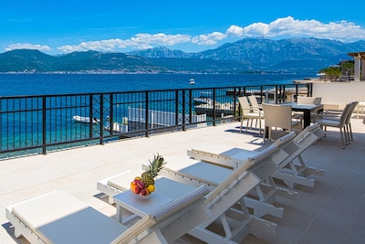 Terrace, outdoor furniture , sea view