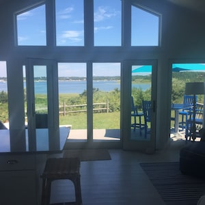View of Wellfleet Harbor from the living room/ kitchen