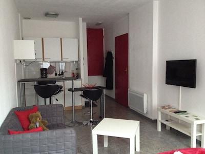 Salon et kitchenette