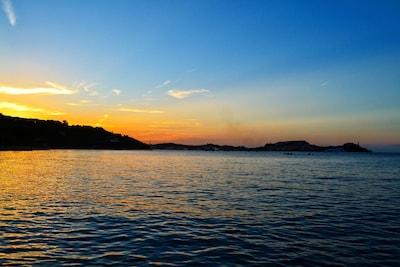 tramonto dal pontile
