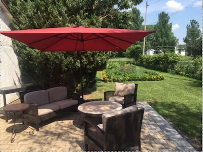 Relax on the private patio