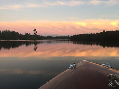 Loon Lake at sunset.
