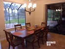 Dining Room with view of Pool,Patio and Canals