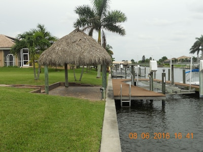 Tiki Hut and Dock