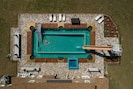 The world's first billiard table pool (and lazy river plus water cannon & slide)