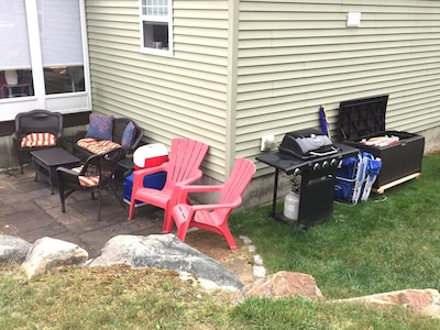 Rare find! Full patio with plenty of room for chillin and grillin.