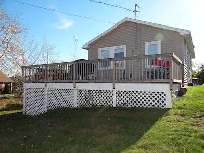 Lots of room for relaxing on the deck with views of the Nubble Lighthouse!