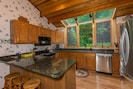 Large Fully Equipped Kitchen  with Granite Countertops