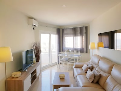 Living room with patio door to the balcony