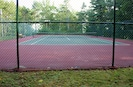 Association tennis located steps from cottage