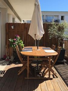 Terrasse côté repas