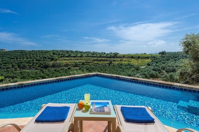 32 m² private infinity swimming pool.