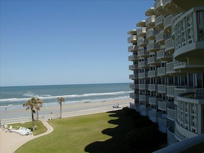 View looking southeast along building toward ocean