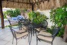 South side palapa is poolside and has a built in BBQ