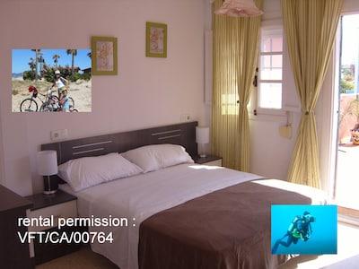 bonita habitacion doble con Rooms Bike And Dive