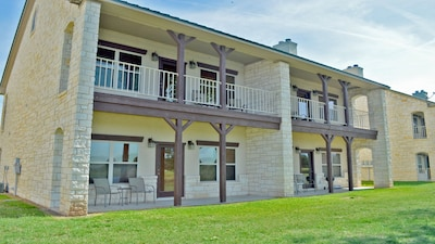 Back side of The Villas - all units have a back patio