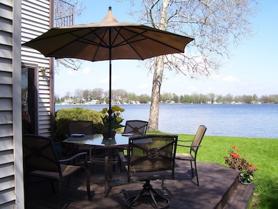 A yard for play while great swimming, fishing and boating are just steps away!