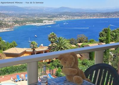 2 habitaciones, vista excepcional al mar, estacionamiento privado, piscina, WIFI