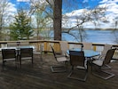 The back deck has plenty of seating and a wonderful view of Kentucky Lake.