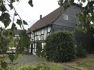 Musikhaus Medebach. Dieses historische Haus befindet sich im Dorf im Hochsauerland.