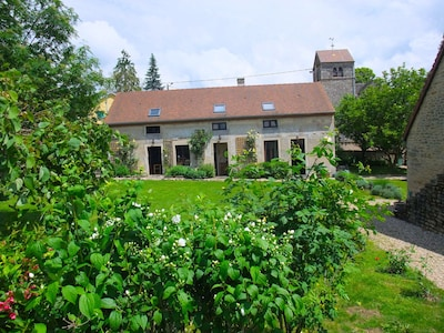 The farmhouse from the swimming pool