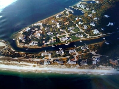 Association beach lower left, house right of center and up, corner lot