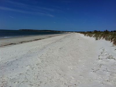 White Gate Beach on Nantucket Sound. Accessible by Great Island homeowners (and you our guests) only.
