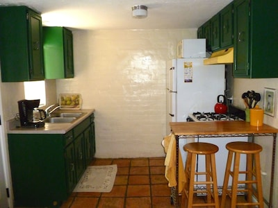 Full kitchen has everything you need.