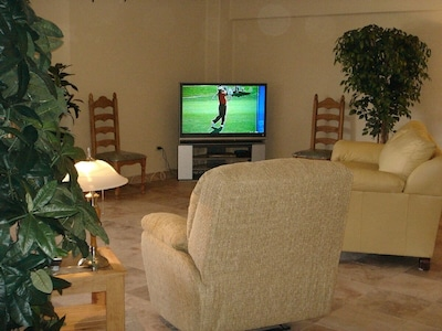 52-in  TV in Front Room, and Master Bedroom Plasma