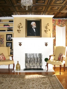 The entrance parlor; host to two formal weddings in 1898 and 1913